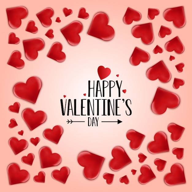 Happy valentijnsdag vector Gratis Vector