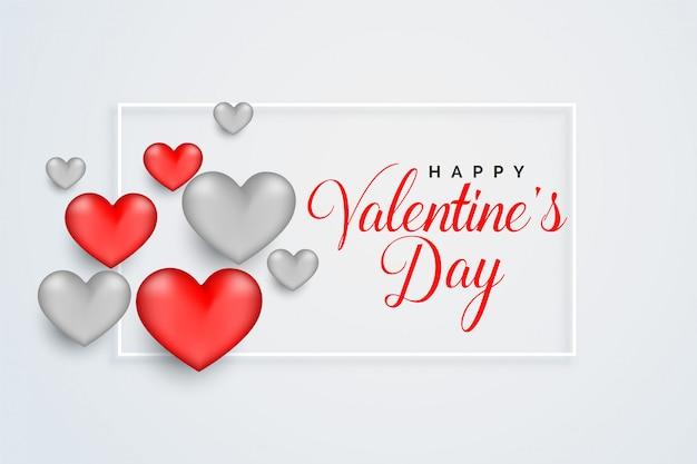 Happy valentijnsdag viering wenskaart ontwerp Gratis Vector
