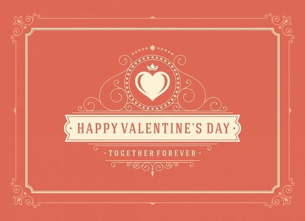 Happy valentijnsdag wenskaart Premium Vector