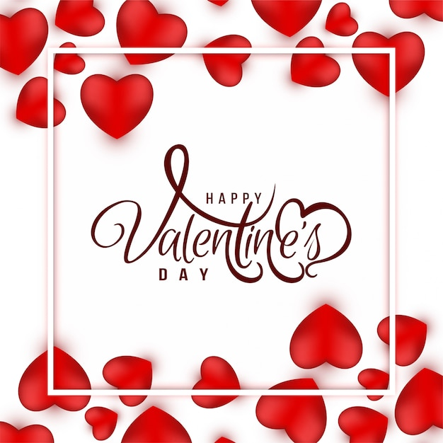 Happy valentine's day groet achtergrond Gratis Vector