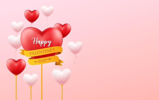 Happy valentine's day illustratie. Premium Vector