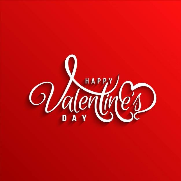 Happy valentine's day stijlvolle liefde achtergrond Gratis Vector
