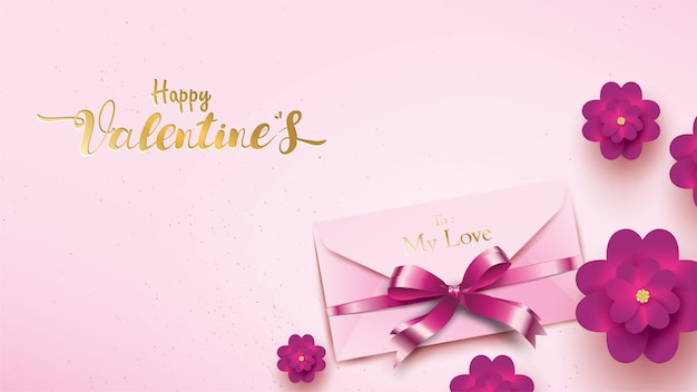 Happy valentines day wenskaart Premium Vector
