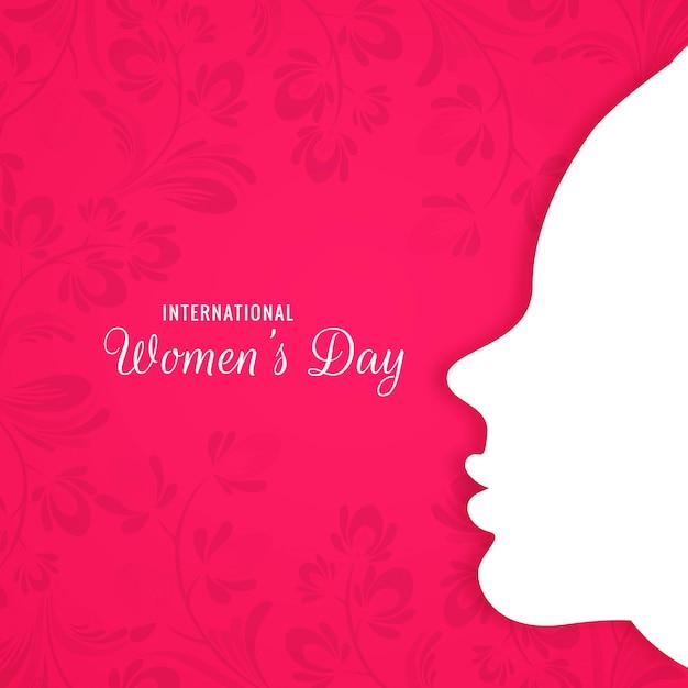 Happy women's day mooie kaart Gratis Vector