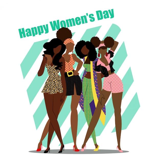 Happy women's day vector ontwerp / grafisch Premium Vector