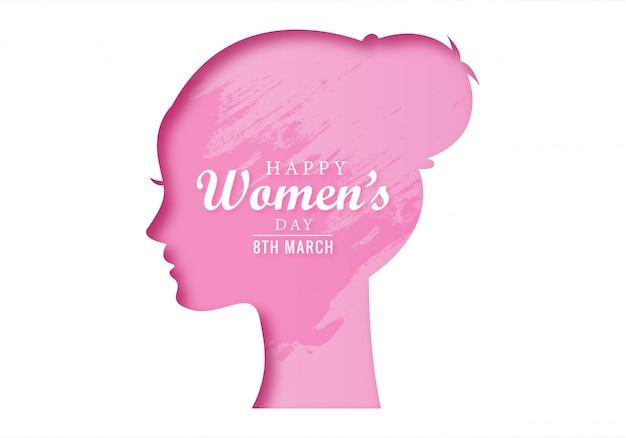 Happy women's day vieringen concept kaart ontwerp Gratis Vector