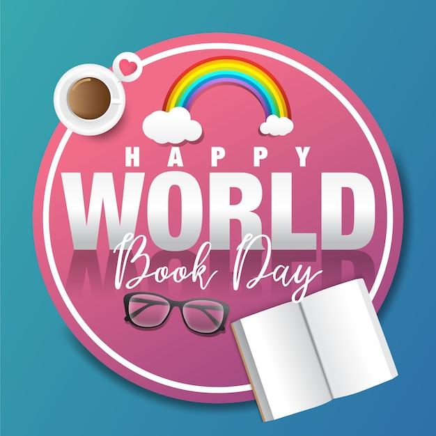 Happy world book day Premium Vector