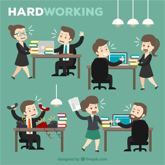 Hardwerkend Gratis Vector