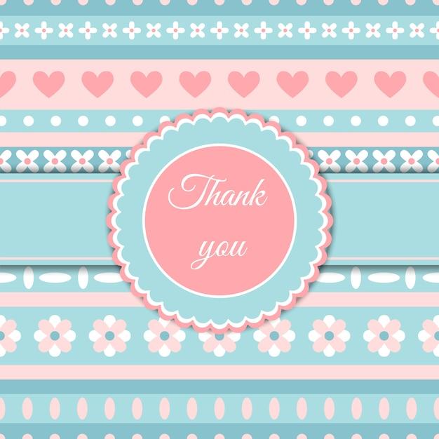 Hart en bloem schattig romantische kaart Premium Vector