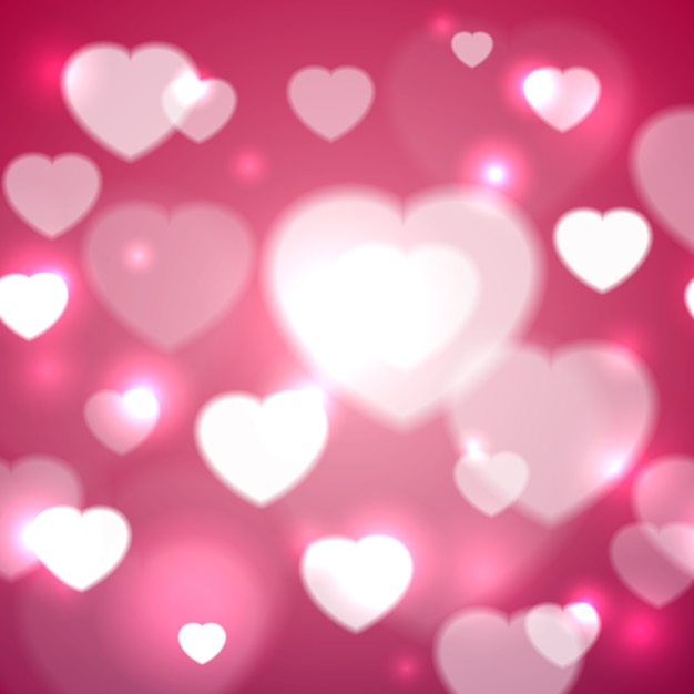 Harten voor valentijnsdag achtergrondontwerp vectorillustratie Gratis Vector