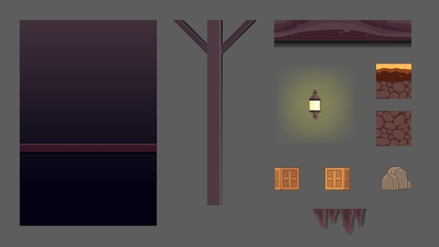 Haunted dungeon game achtergrond Premium Vector