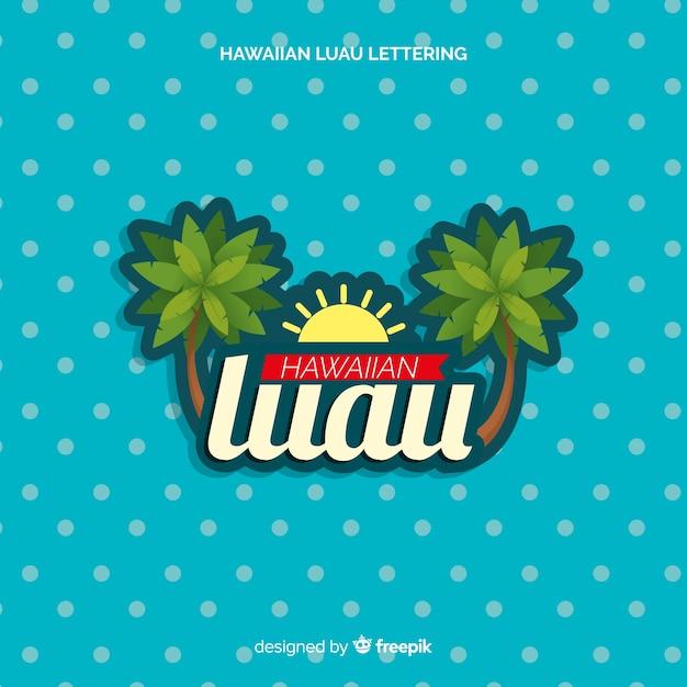 Hawaiiaanse luau van letters voorziende achtergrond Gratis Vector