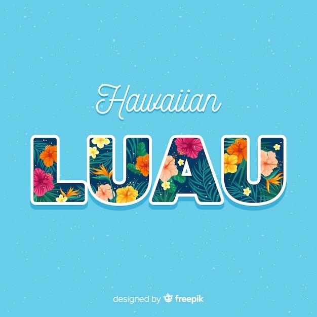 Hawaiiaanse luauachtergrond Gratis Vector