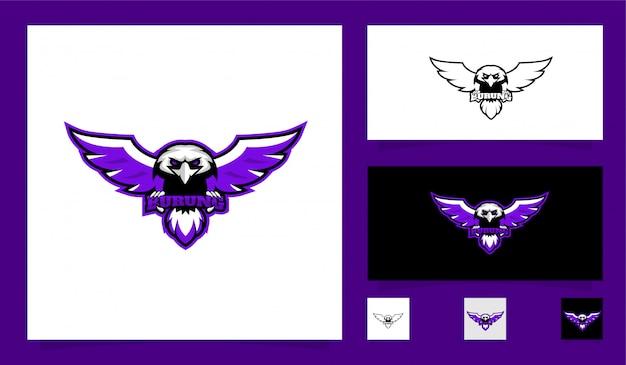 Hawk sport mascotte logo Premium Vector