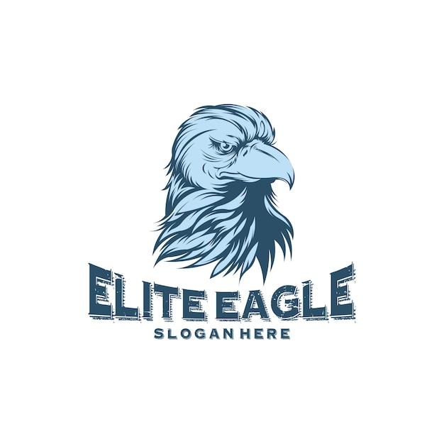 Head eagle logo-ontwerpen Premium Vector