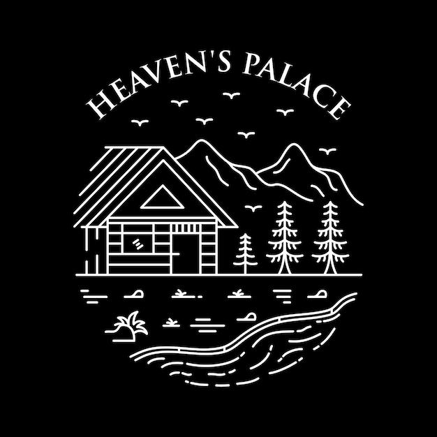 Heaven's palace Premium Vector