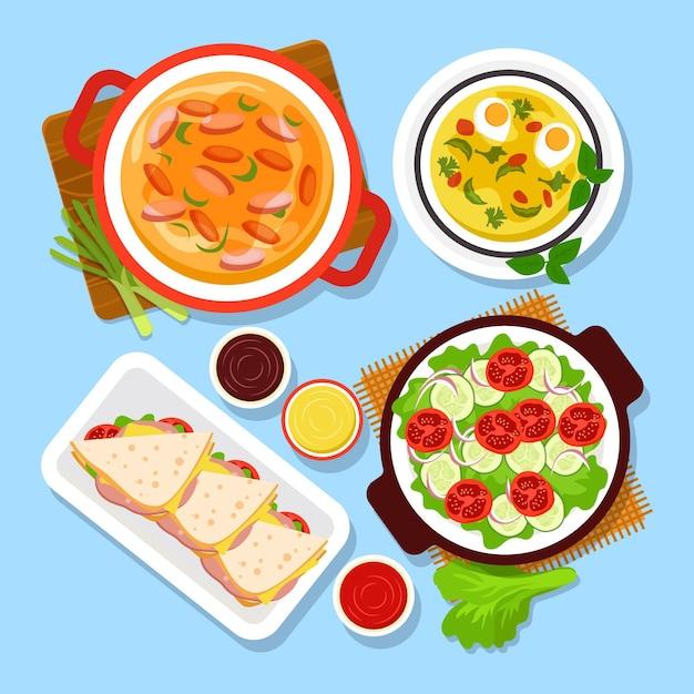 Heerlijk comfort food concept Gratis Vector