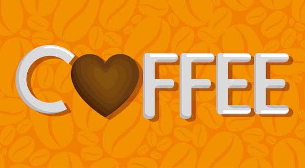 Heerlijk koffiekopje met hart Gratis Vector