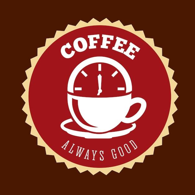 Heerlijk koffieontwerp, vector grafische illustratie eps10 Premium Vector