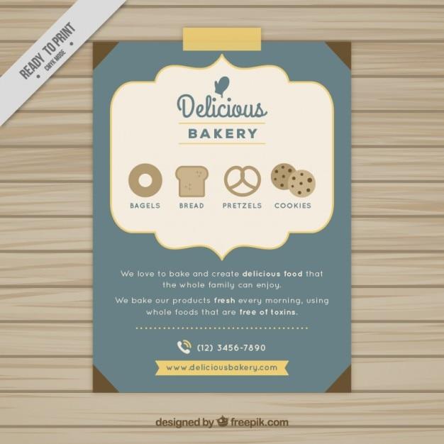 Heerlijke bakkerij brochure Gratis Vector
