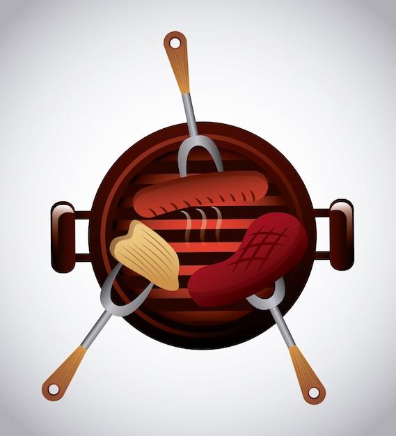 Heerlijke barbecue barbecue Premium Vector
