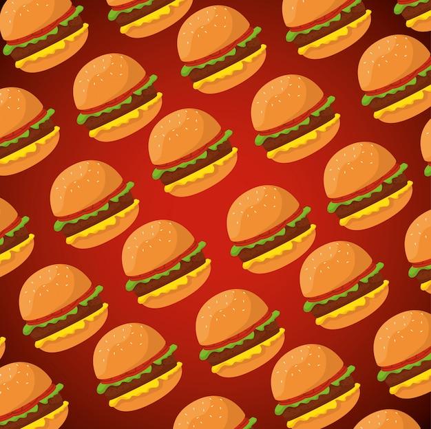 Heerlijke hamburgersjabloon Gratis Vector