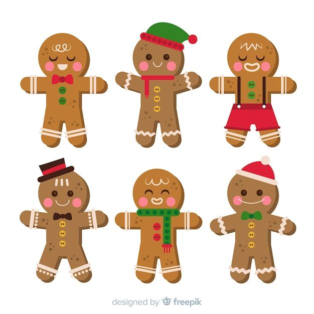 Heerlijke kerstkoekjes collectie Gratis Vector