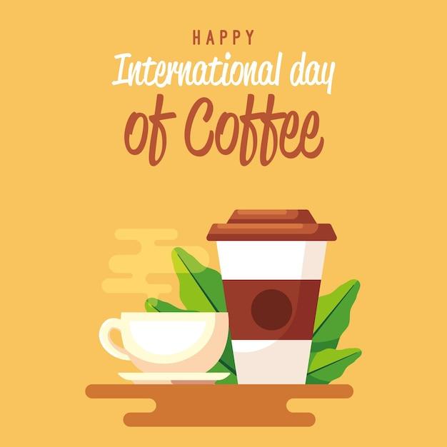 Heerlijke koffie voor een dagje koffie Gratis Vector
