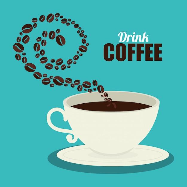 Heerlijke koffie Gratis Vector