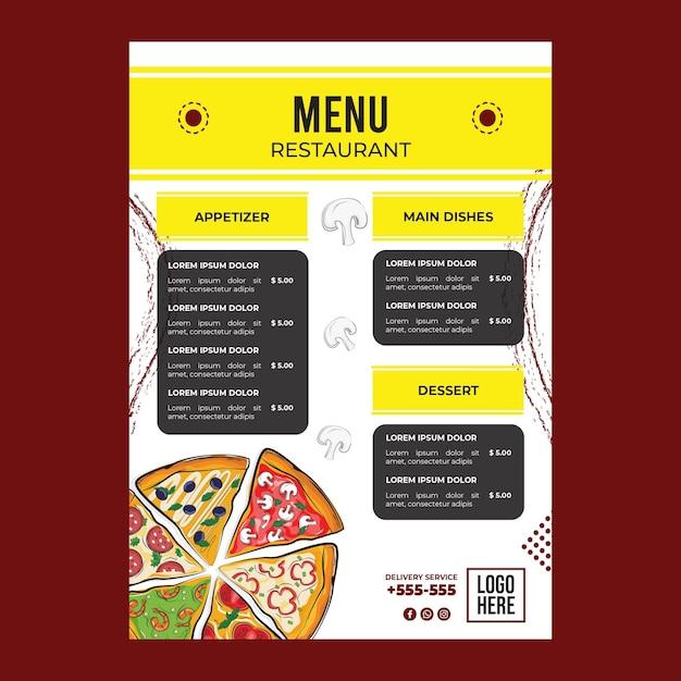 Heerlijke pizza concept Gratis Vector