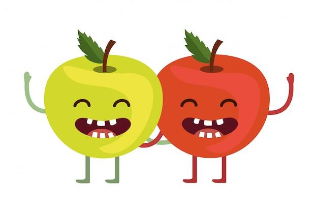Heerlijke smakelijke vruchten cartoon Premium Vector