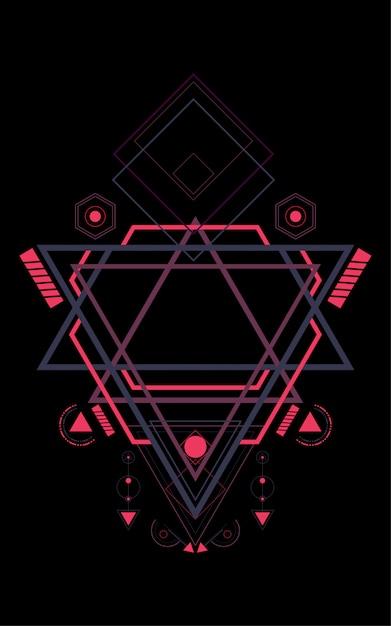 Heilige geometrie patroon Premium Vector