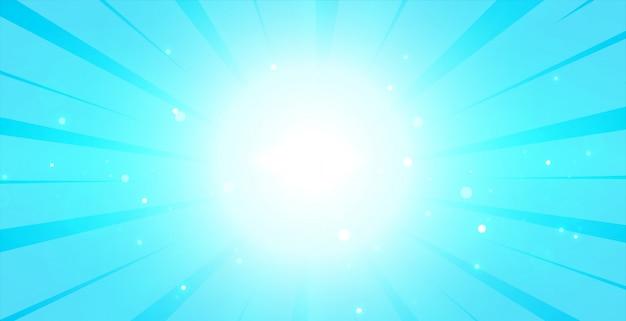 Helder blauwe gloeiende achtergrond met lcenter licht Gratis Vector
