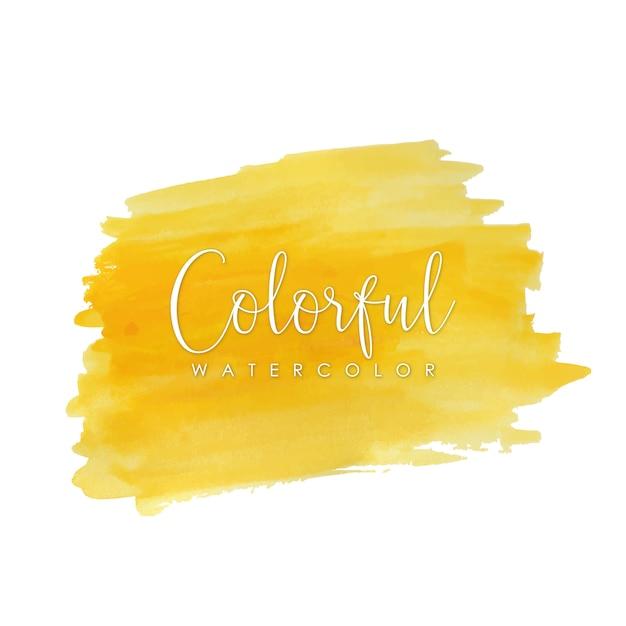 Helder gele aquarel lijnen Gratis Vector