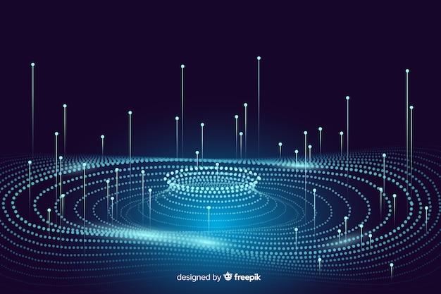 Heldere abstracte gegevens concept achtergrond Gratis Vector
