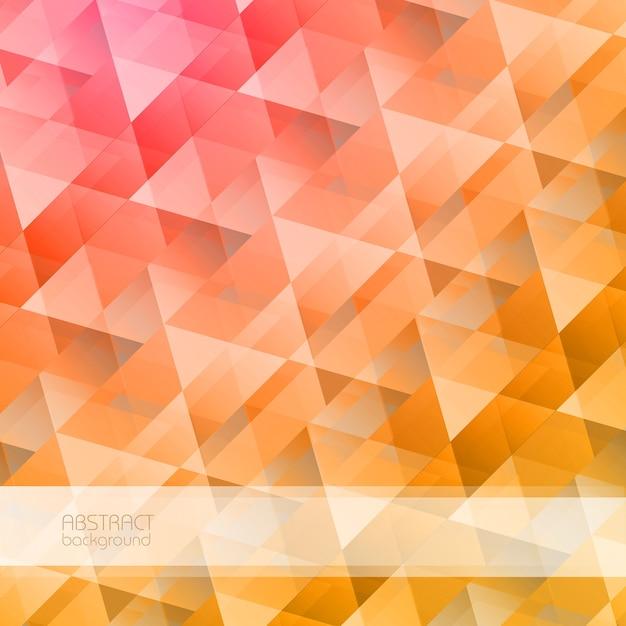Heldere abstracte geometrisch met kleurrijke driehoekige kristalvormen in de illustratie van de mozaïekstijl Gratis Vector