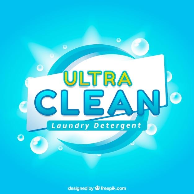 Heldere blauwe achtergrond van detergent Gratis Vector