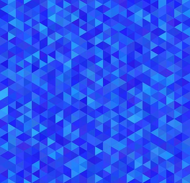 Heldere blauwe driehoeken, naadloos patroon Premium Vector