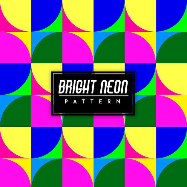 Heldere neon kleurrijke vormen naadloze patroon achtergrond Gratis Vector