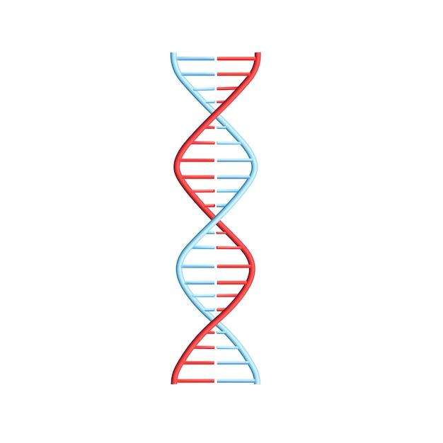 Helix-spiraal met genetische code Premium Vector