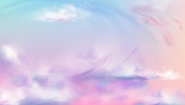 Hemel of hemel natuur zonsondergang of zonsopgang Gratis Vector