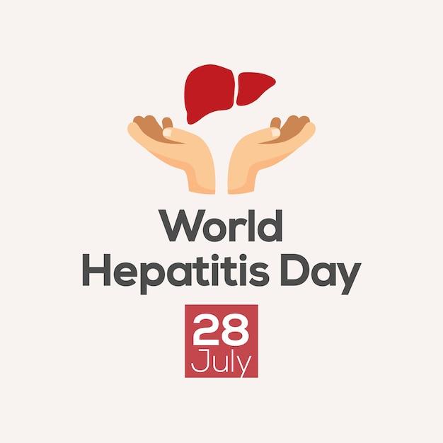 Hepatitis dag posterontwerp. vector illustratie Premium Vector