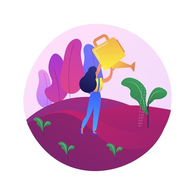 Herbebossing abstract concept illustratie. bosbouw, herbebossingsprogramma, herbeplanting van bomen, natuurlijk herstel van bossen, bos redden, mitigatie van klimaatverandering Gratis Vector