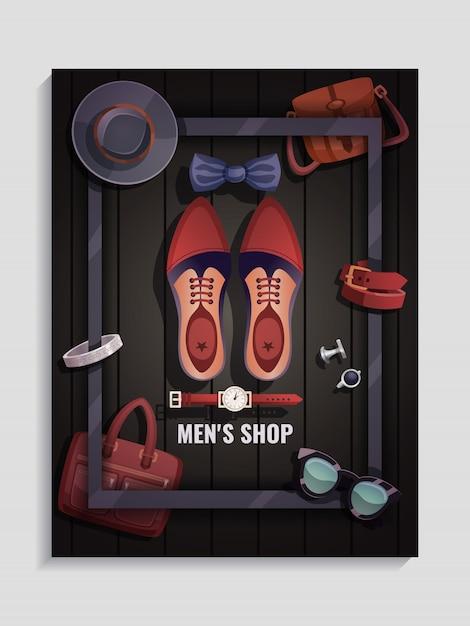 Heren accessoires poster Gratis Vector