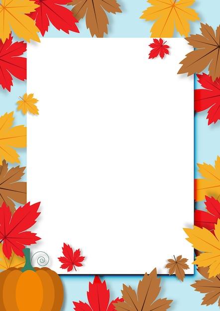 Herfst achtergrond vector Premium Vector