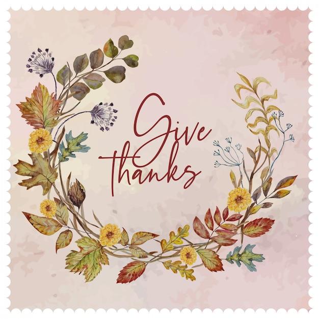 Herfst bloemen krans Premium Vector