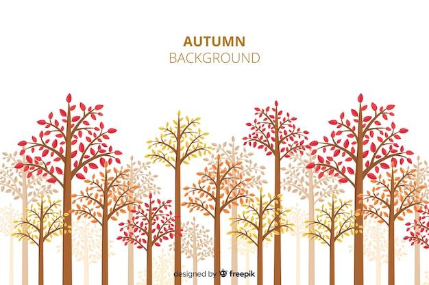 Herfst decoratieve achtergrond vlakke stijl Gratis Vector