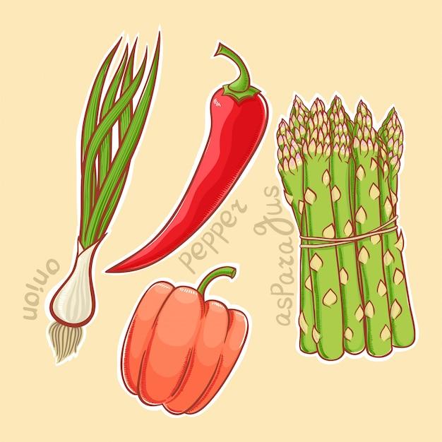 Herfst groenten Premium Vector