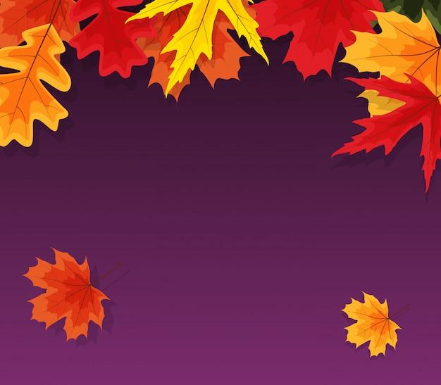 Herfst natuurlijke bladeren. Premium Vector
