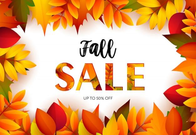 Herfst verkoop retail banner Gratis Vector